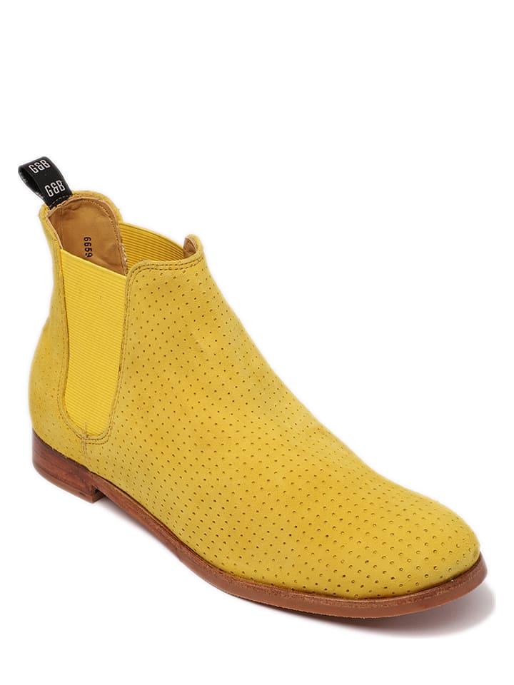 """GORDON & BROS Skórzane sztyblety """"Eve"""" w kolorze żółtym"""