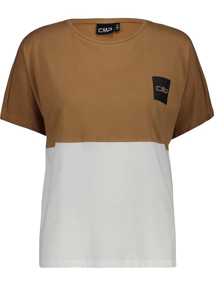 CMP Shirt lichtbruin/wit