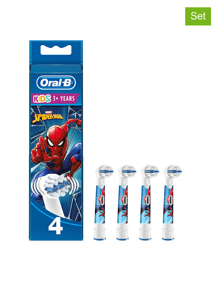 """Oral-B 4-delige set: opzetborstels """"Kids Spiderman"""" meerkleurig"""