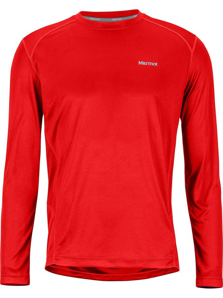 """Marmot Koszulka funkcyjna """"Windridge"""" w kolorze czerwonym"""
