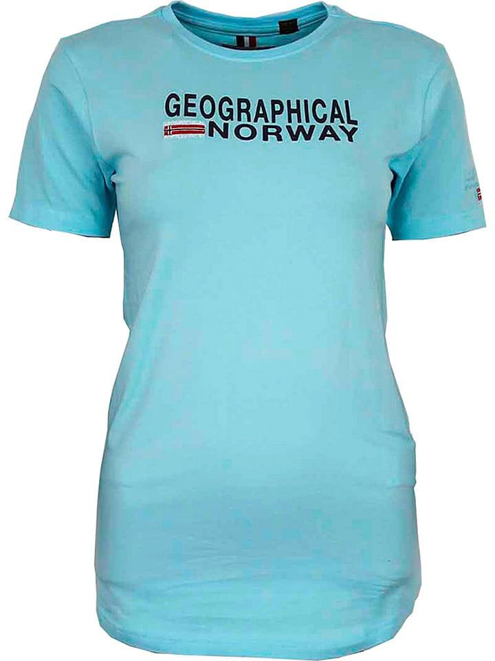 """Geographical Norway Koszulka """"Jieppe"""" w kolorze błękitnym"""