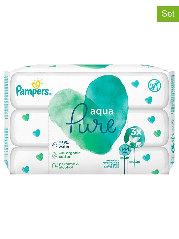 """Pampers 3er-Set: Feuchttücher """"Aqua Pure"""", je 48 Stück"""