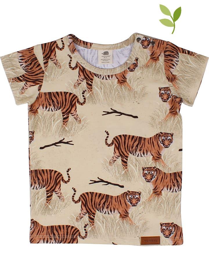 Walkiddy Koszulka w kolorze beżowo-jasnobrązowym