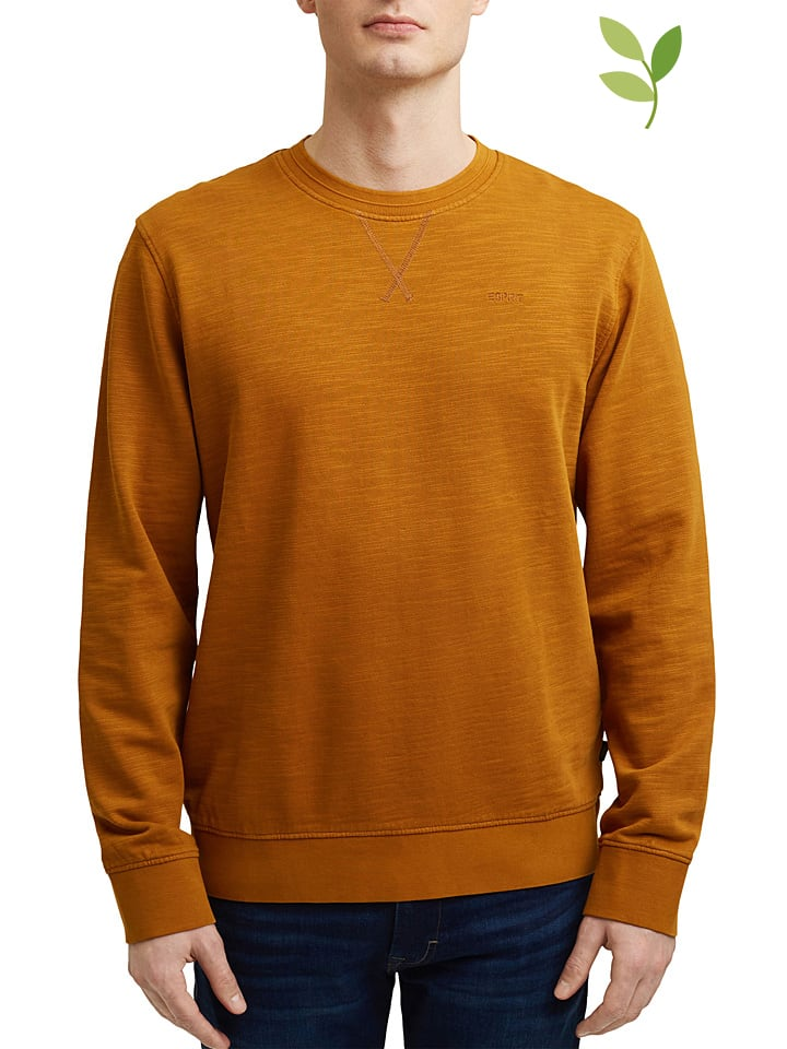 ESPRIT Bluza w kolorze karmelowym