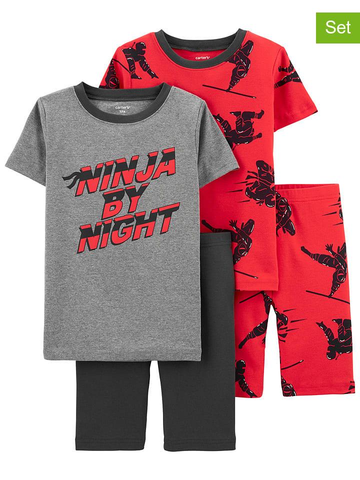 Carter's 2-delige set: pyjama's grijs/rood