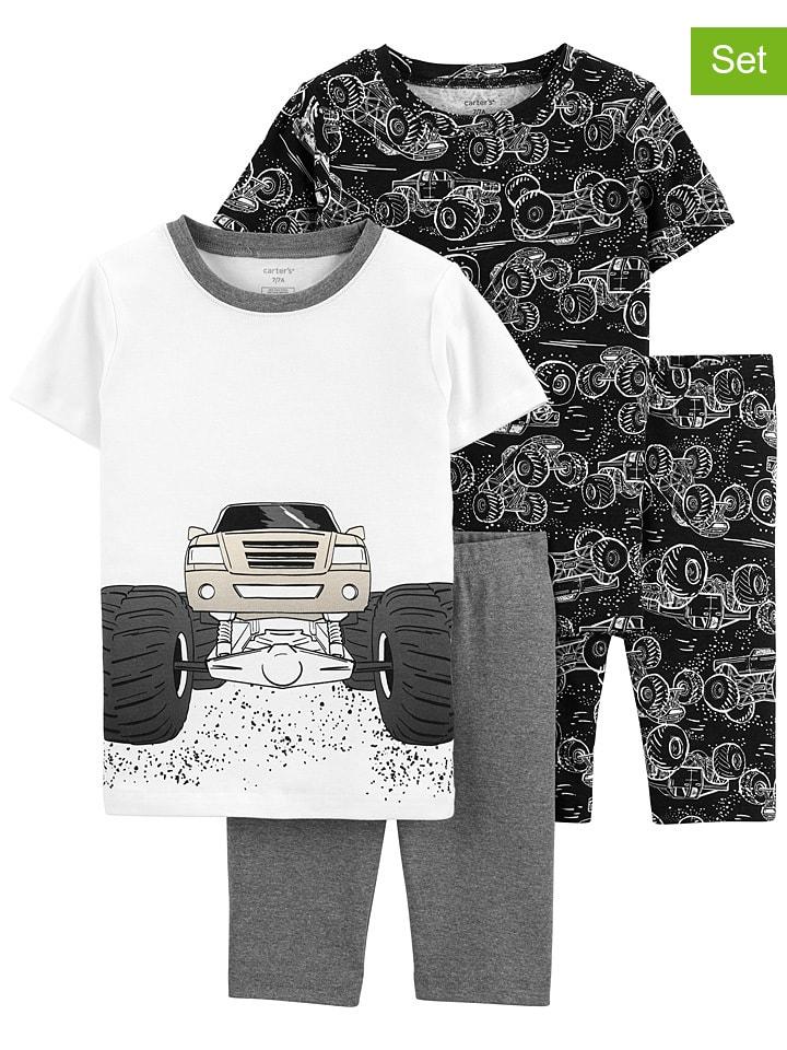 Carter's 2-delige set: pyjama's grijs/wit/zwart