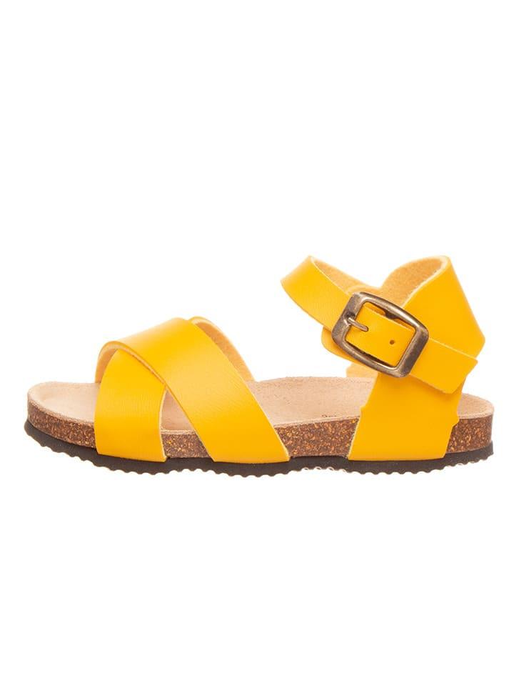 Sandalen geel