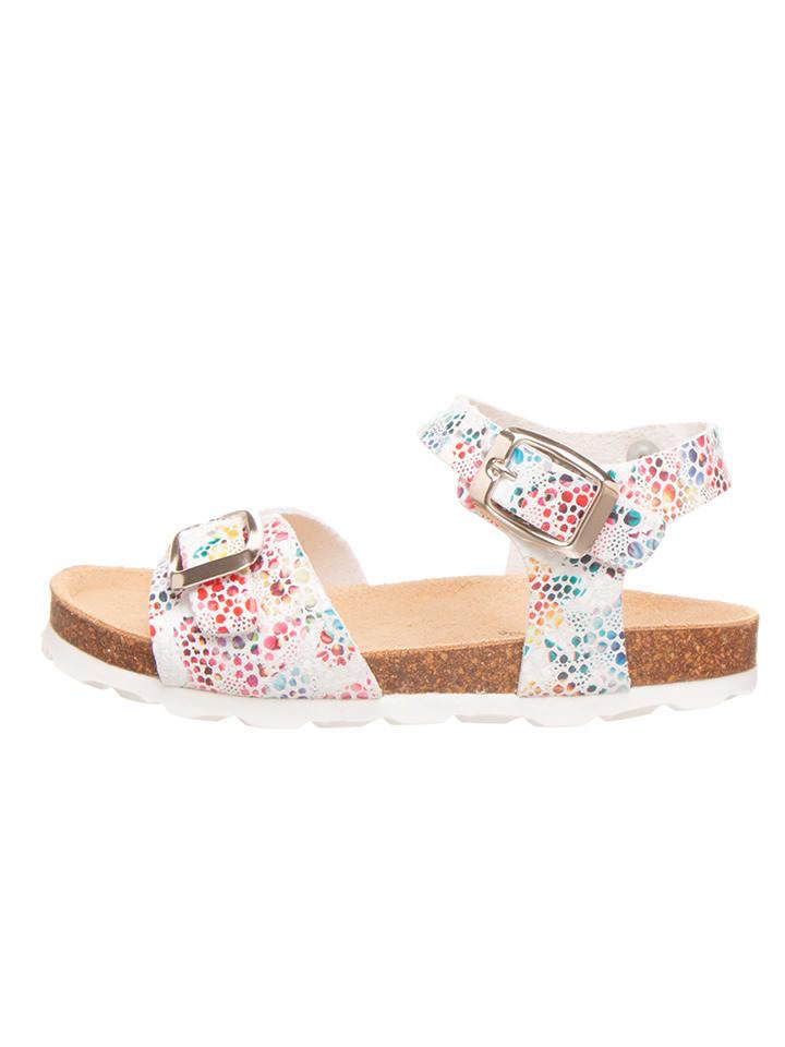 BIO PINGÜIN Sandalen wit/meerkleurig