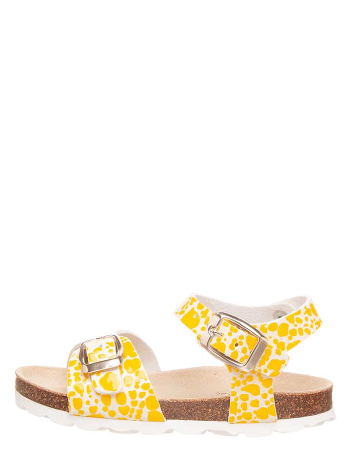 BIO PINGÜIN Sandalen geel/wit