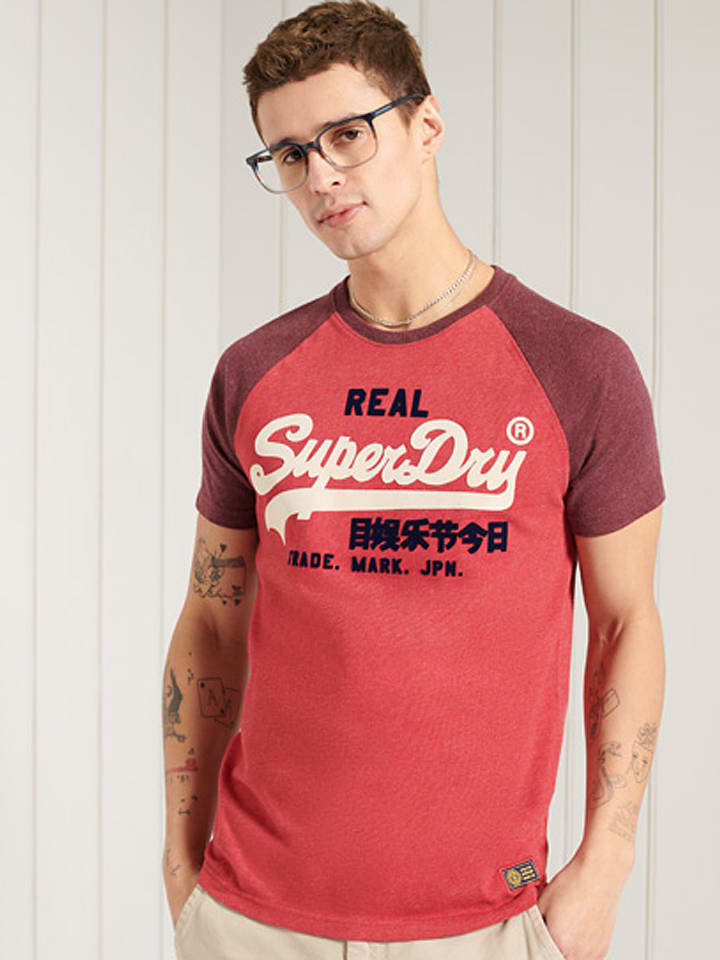"""Superdry Shirt """"Duo"""" rood"""