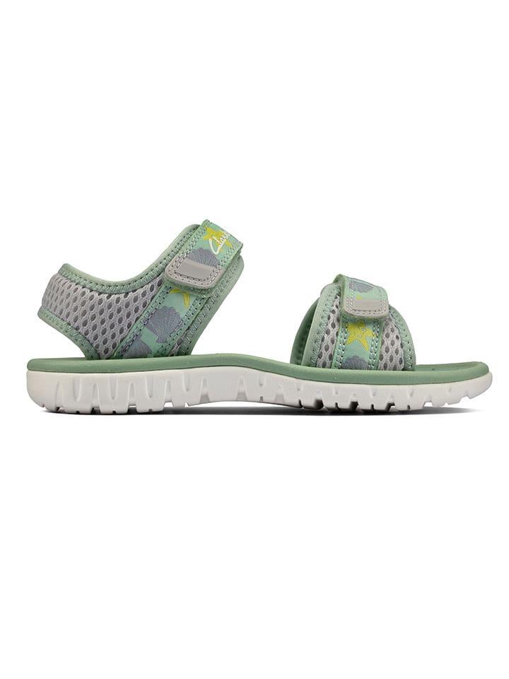 Clarks Sandały w kolorze szaro-zielonym