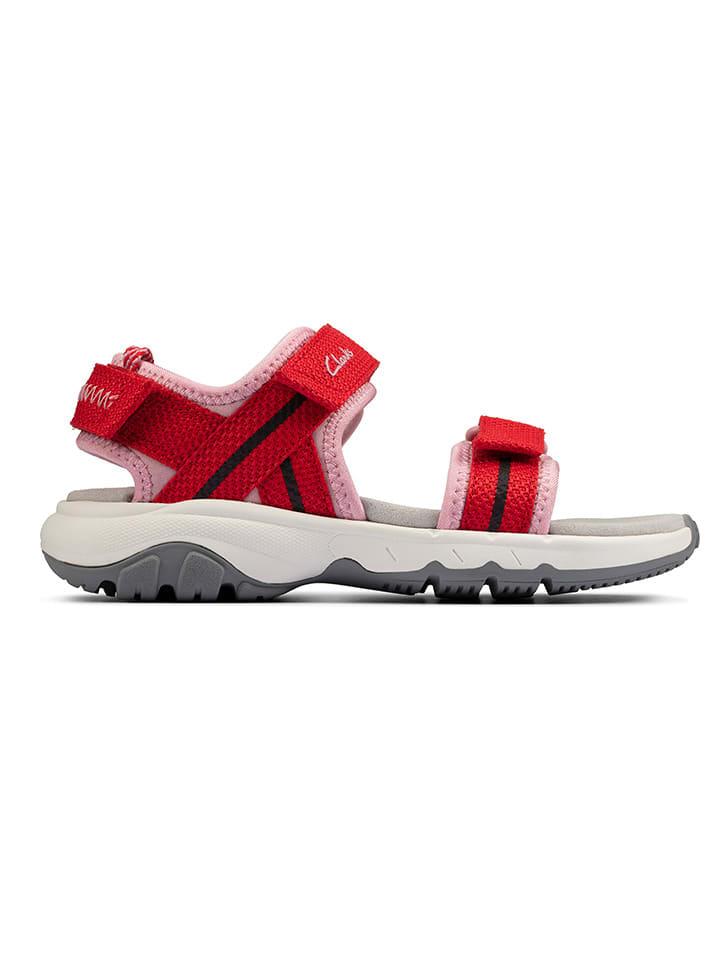 Clarks Sandały w kolorze czerwonym