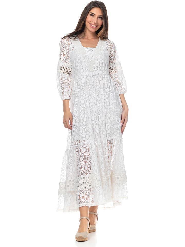 Peace & Love Sukienka w kolorze białym