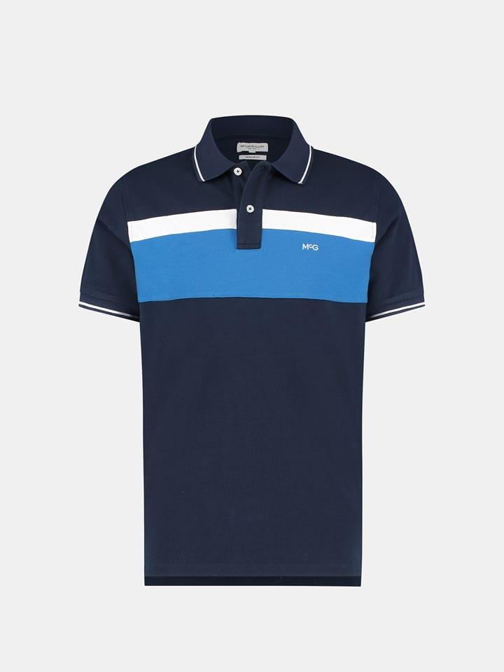 McGregor Koszulka polo w kolorze niebiesko-biało-granatowym