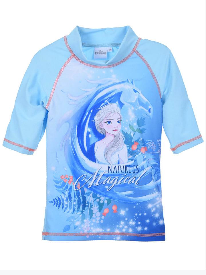 """Disney Frozen Koszulka kąpielowa """"Frozen"""" w kolorze błękitnym"""