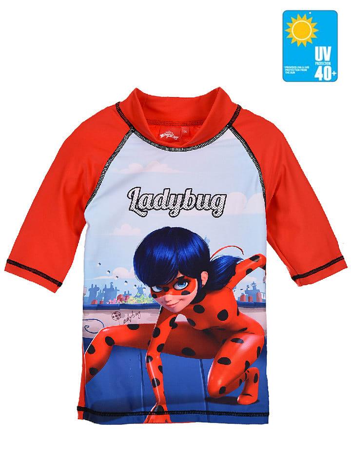 """Miraculous Koszulka kąpielowa """"Ladybug"""" w kolorze czerwonym"""