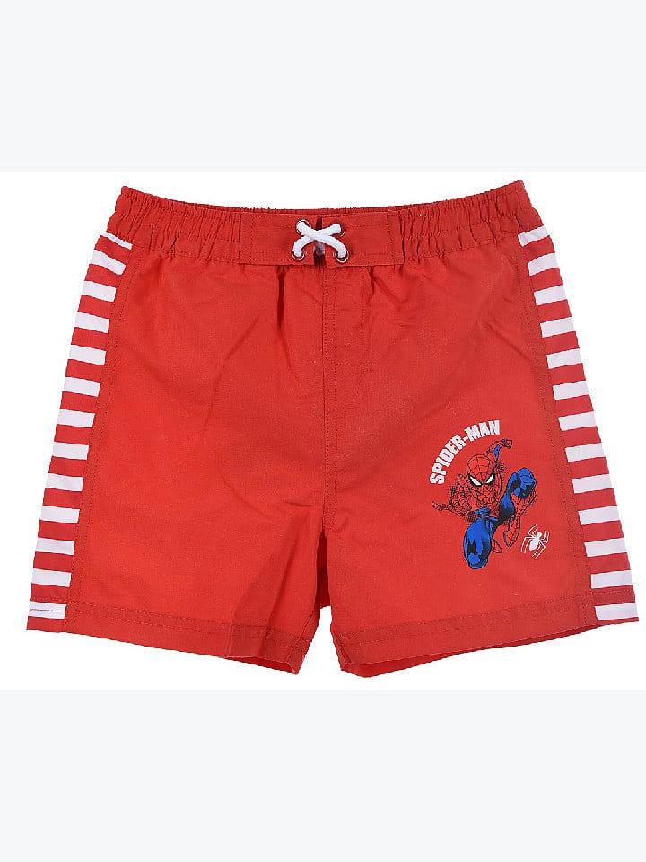 """Spiderman Szorty kapielowe """"Spider-Man"""" w kolorze czerwonym"""