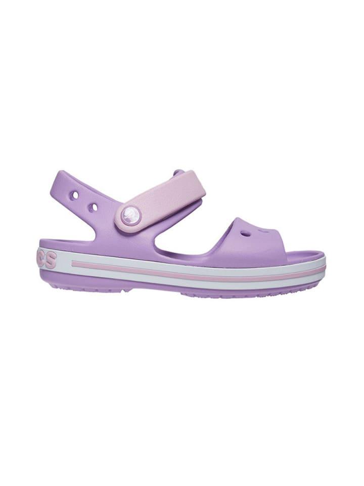 """Crocs Sandały """"Crocband"""" w kolorze fioletowym"""