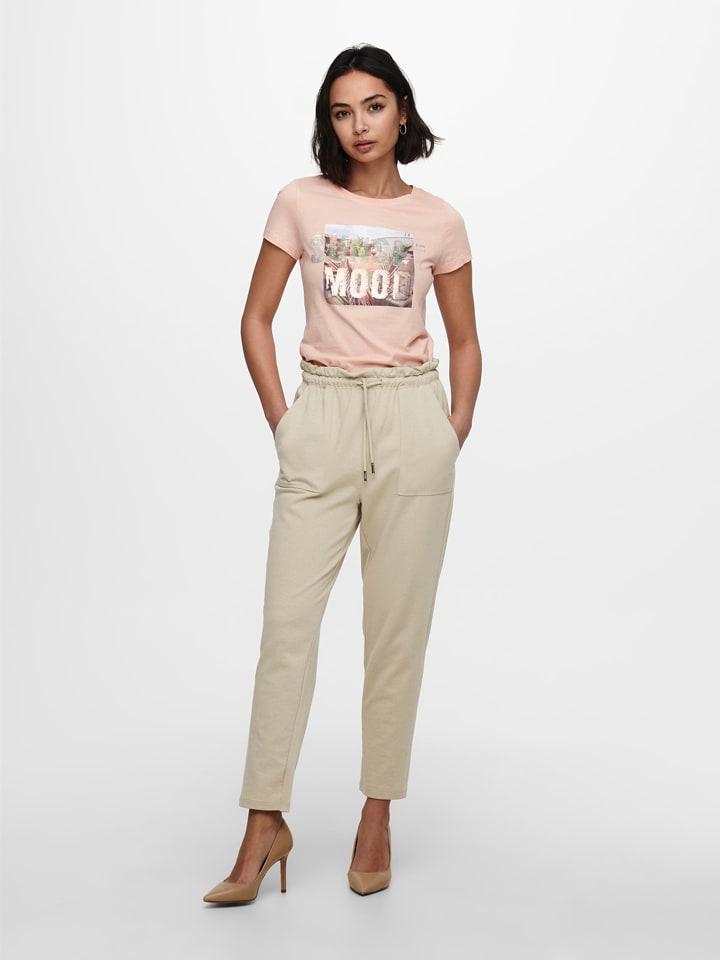 """ONLY Spodnie """"Onlzoey"""" w kolorze beżowym"""