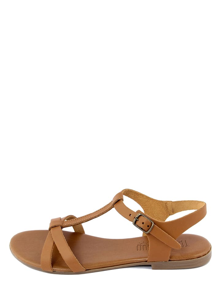 Triple Sun Leren sandalen lichtbruin