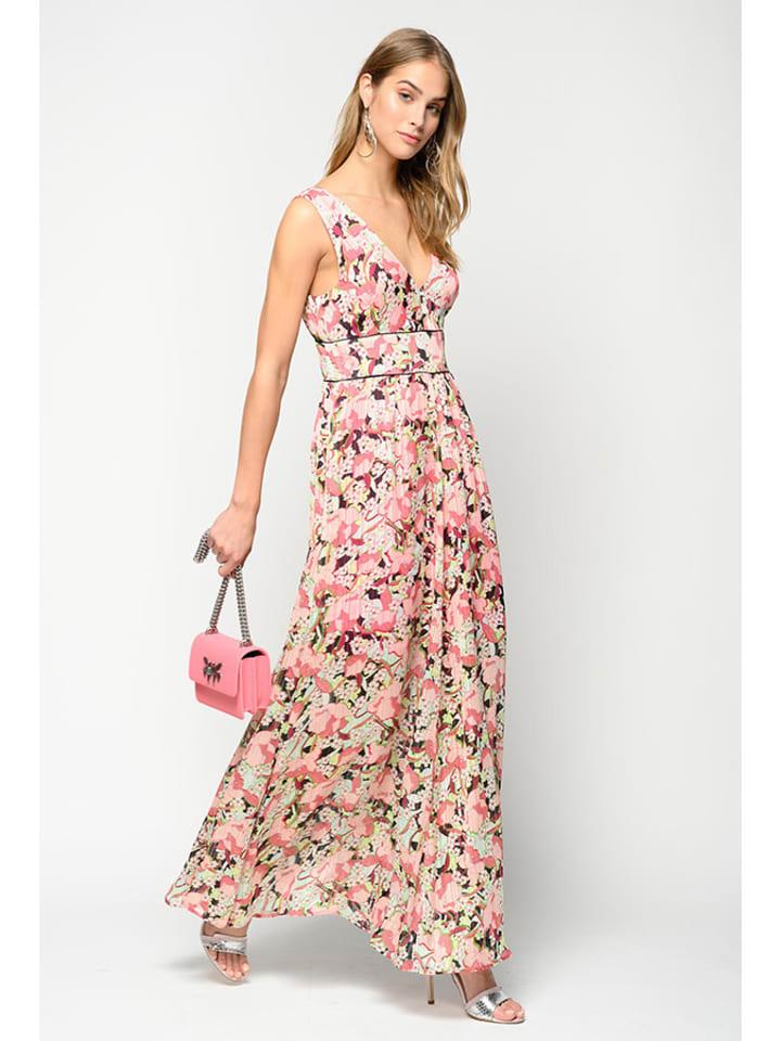 Pinko Kleid in Rosa/ Bunt