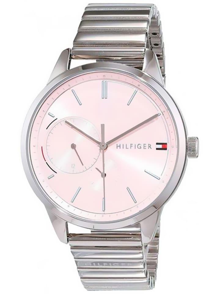 Tommy Hilfiger Zegarek kwarcowy w kolorze srebrno-jasnoróżowy