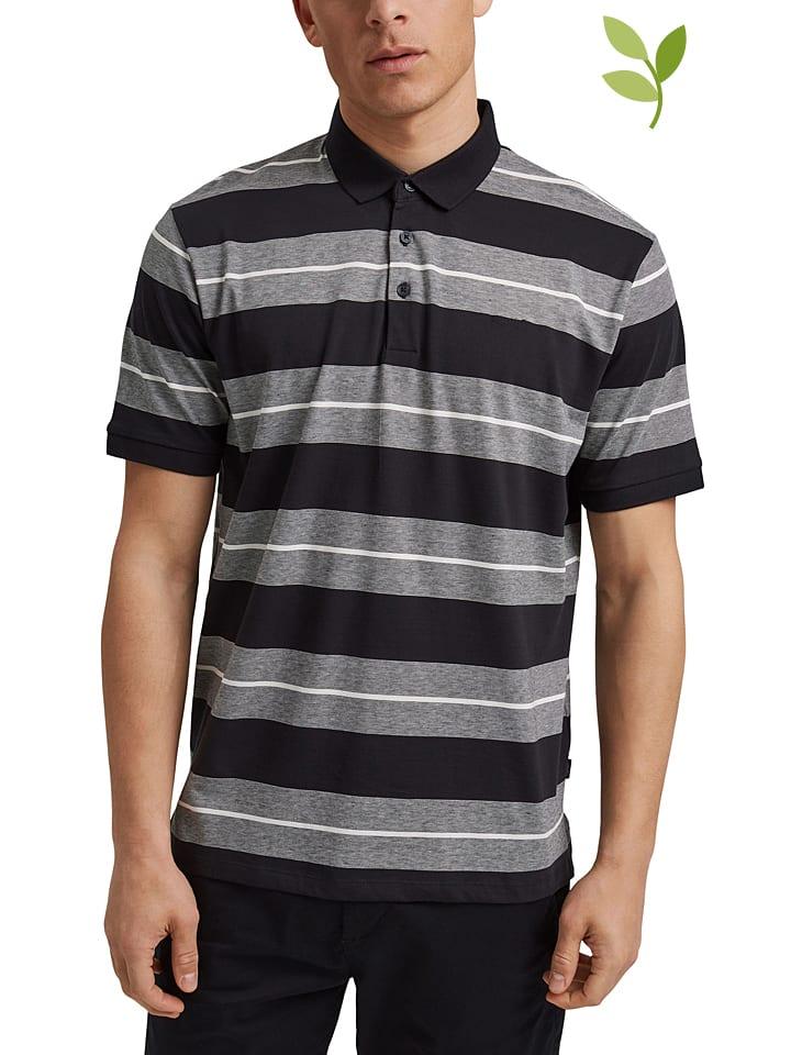 Koszulka polo w kolorze czarno-szarym