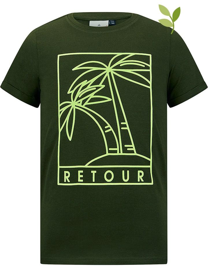 "Retour Shirt ""Camiel"" donkergroen"