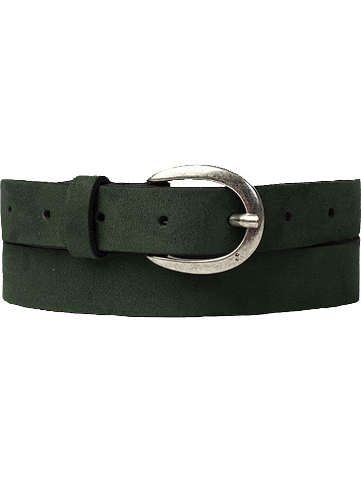 Cowboys Belt Leren riem groen - (L)85 cm