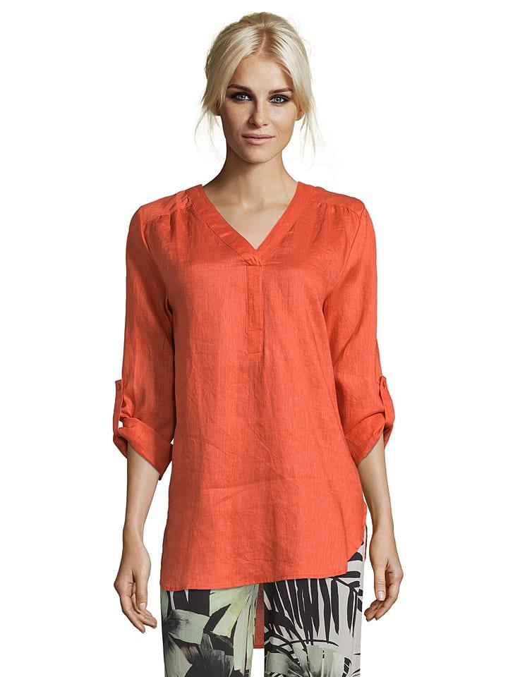 CARTOON Leinen-Bluse in Orange