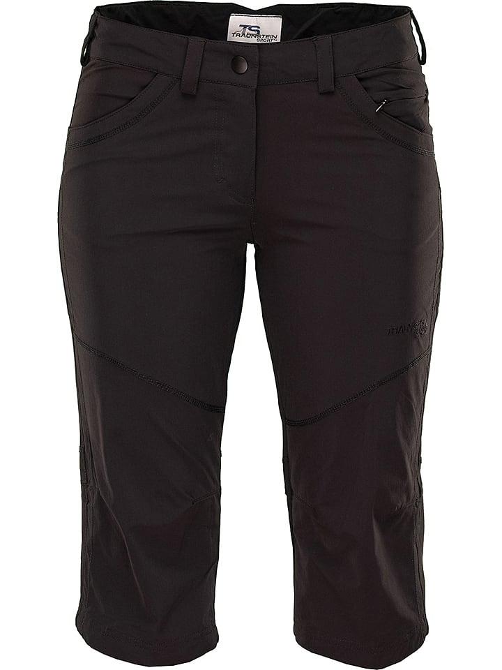 """ROCK EXPERIENCE Funkcyjne spodnie capri """"Elastic"""" w kolorze czarnym"""