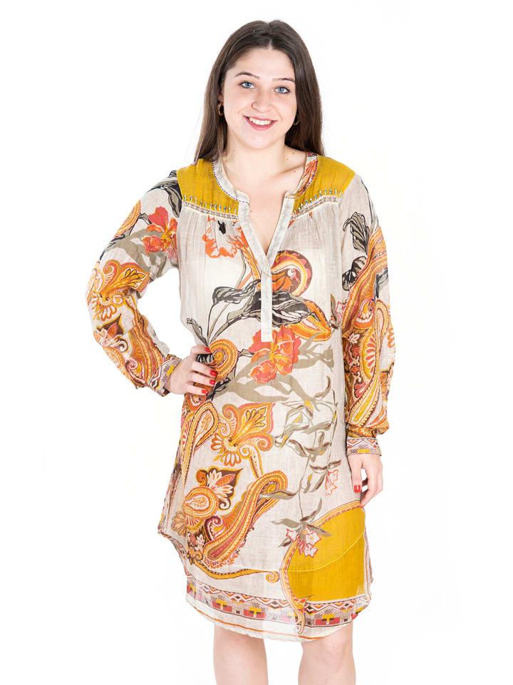 SIGRIS Moda Jurk beige/oranje/geel