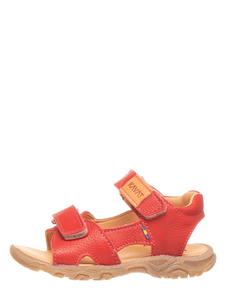 KAVAT Leren sandalen rood