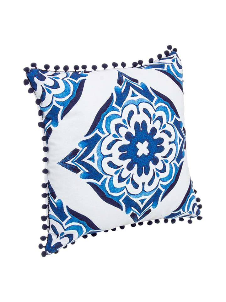 Bizzotto Poduszka w kolorze biało-niebieskim ze wzorem