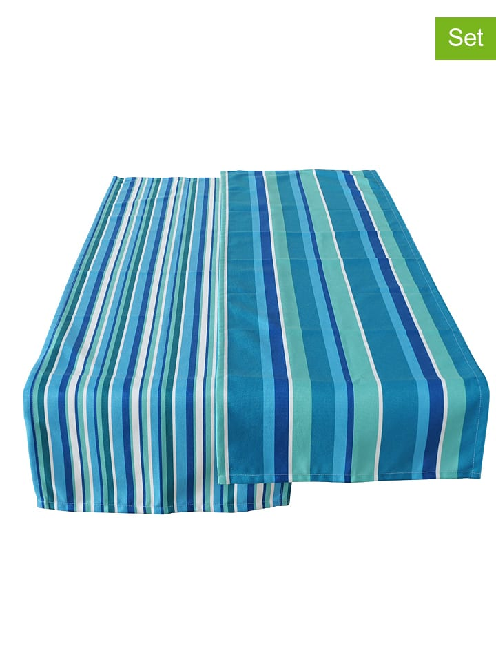 """Boltze Bieżniki (2 szt.) """"Paul"""" w kolorze niebieskim - 140 x 40 cm"""
