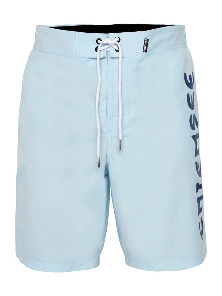 """Chiemsee Szorty kąpielowe """"Lazy Left"""" - Regular fit - w kolorze błękitnym"""