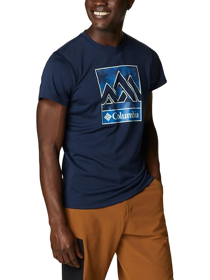 """Columbia Koszulka funkcyjna """"Zero Rules"""" w kolorze granatowym"""