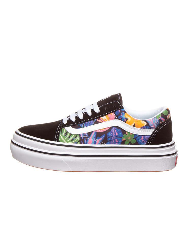 """Vans Plateau sneakers """"Comfycush Old Skool"""" zwart/meerkleurig"""