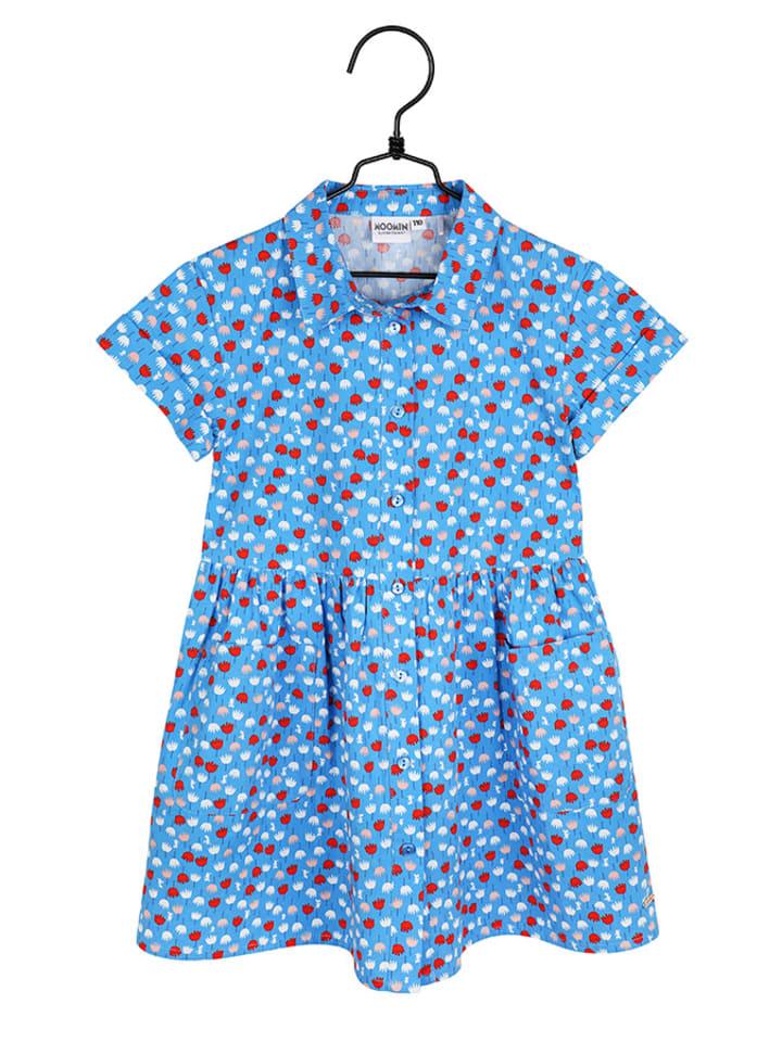 Moomin Sukienka w kolorze jasnoniebieskim ze wzorem