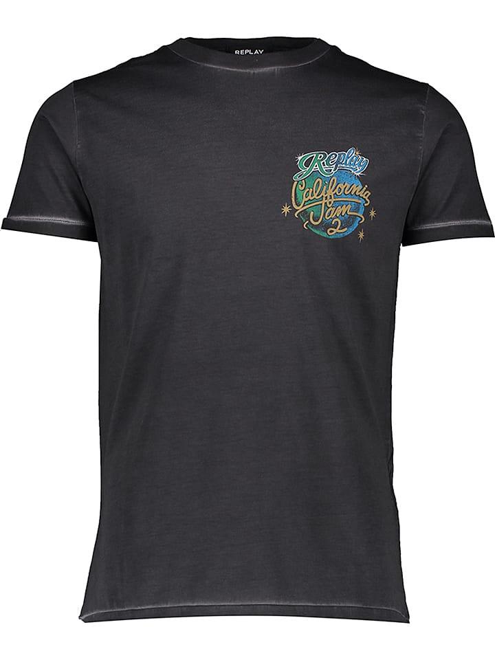 Replay Shirt zwart