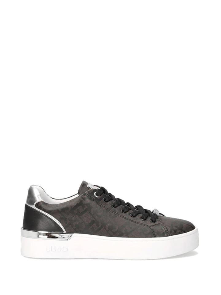 Liu Jo Sneakersy w kolorze czarno-srebrnym