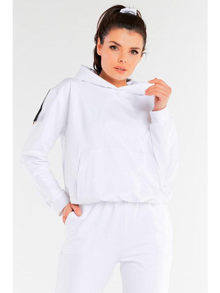INFINITE YOU Bluza w kolorze białym