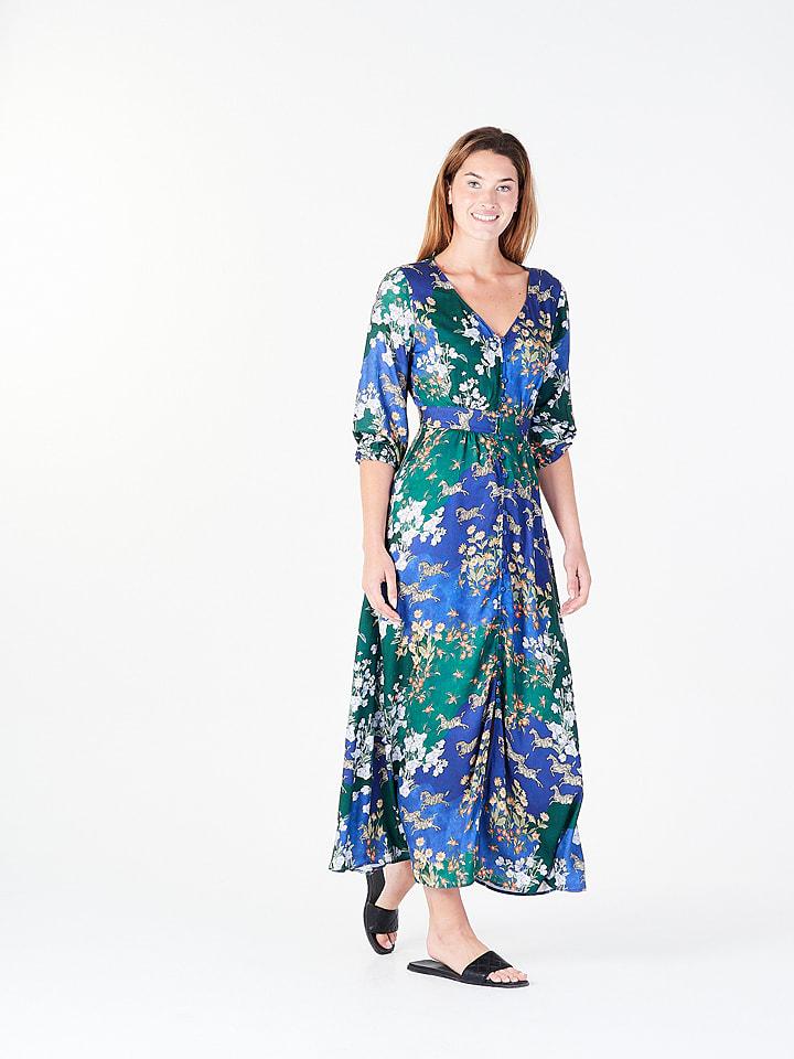 Amichi Jurk blauw/groen/wit