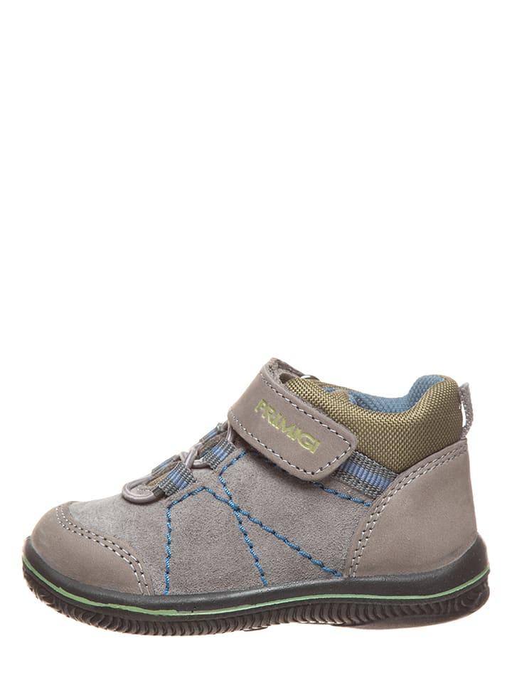 Leder-Sneakers in Grau