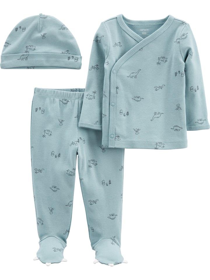3tlg. Outfit in Hellblau