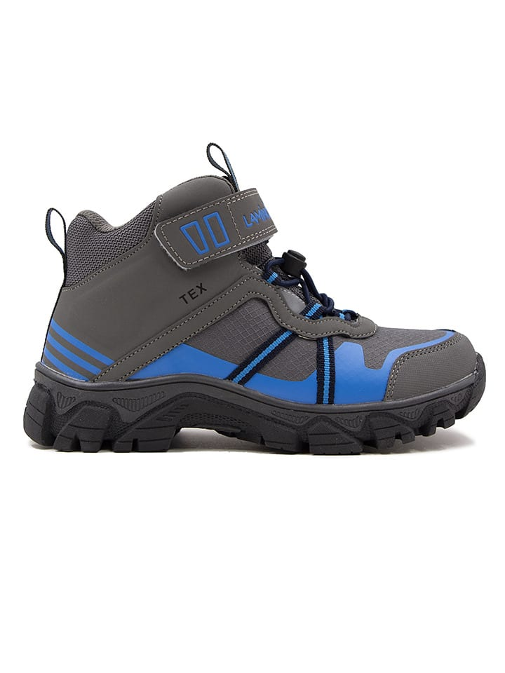 Boots in Anthrazit/ Blau