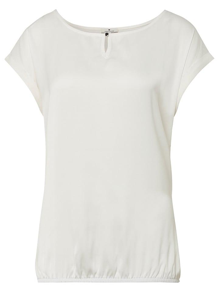 Tom Tailor Bluzka - Relaxed fit - w kolorze białym