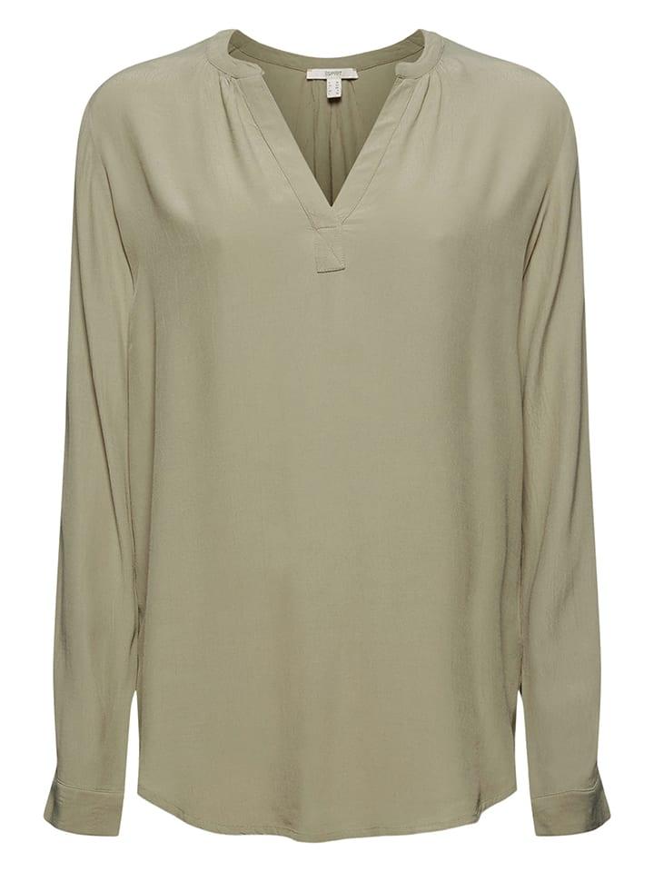 ESPRIT Bluzka w kolorze khaki