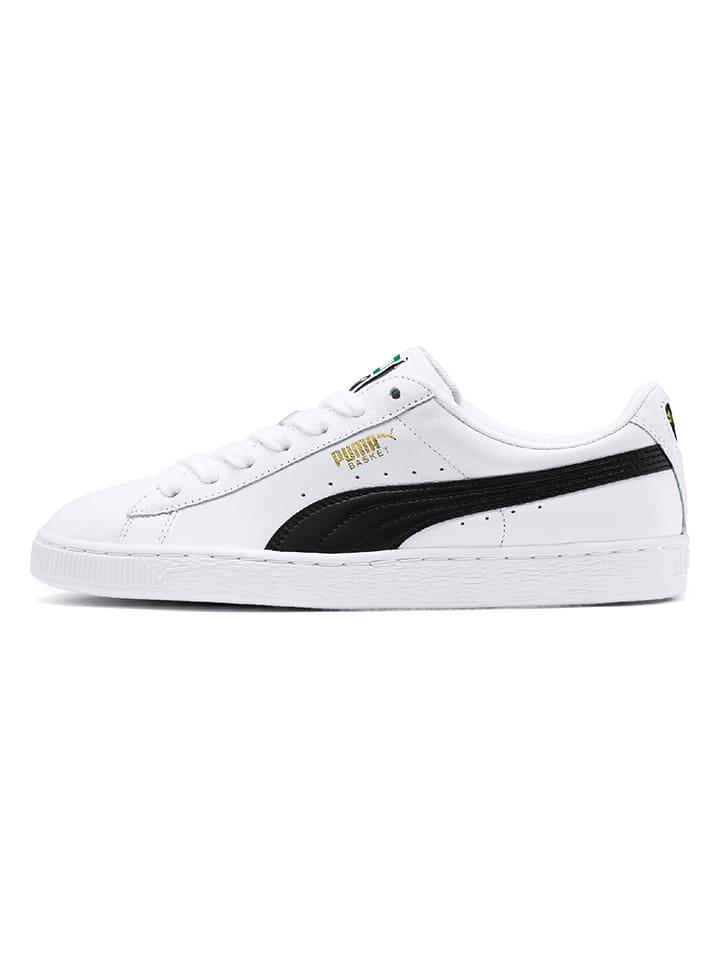 """Puma Shoes Skórzane sneakersy """"Basket Classic"""" w kolorze białym"""