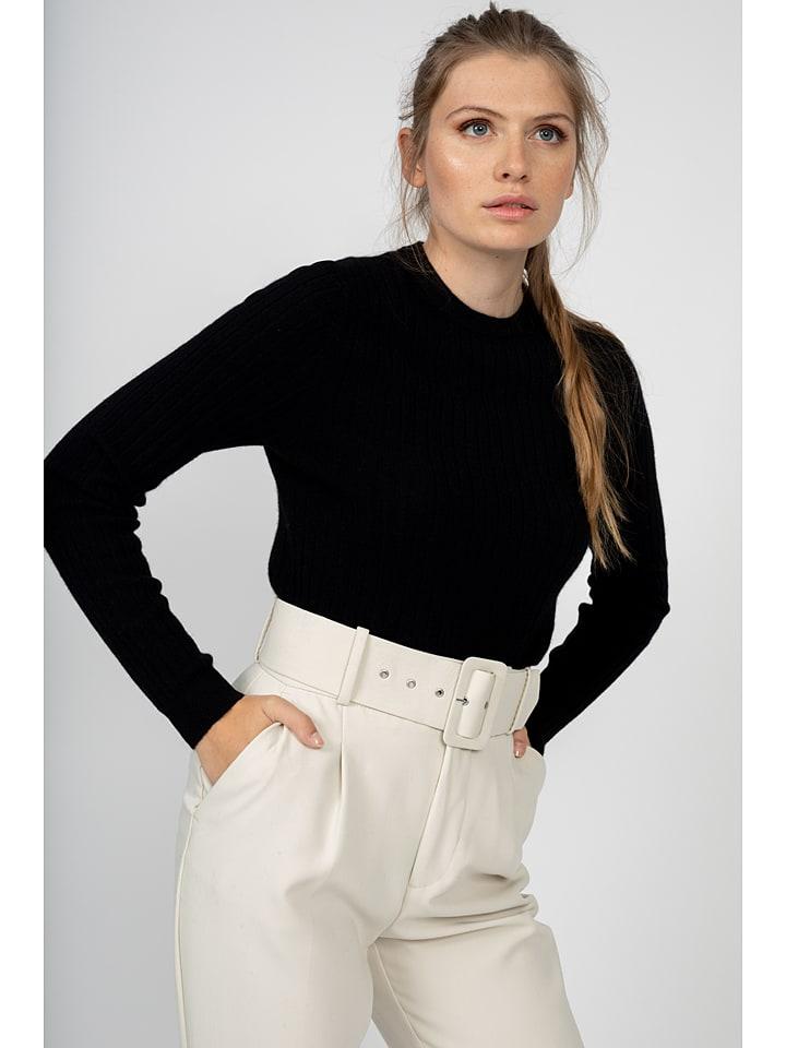 """Kaszmirowy sweter """"Avana"""" w kolorze czarnym"""